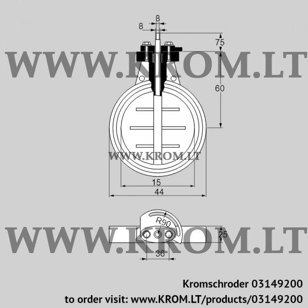 Kromschroder Butterfly valve DKR 15Z03F100D, 03149200