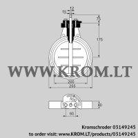 Butterfly valve DKR 200Z03F650D (03149245)