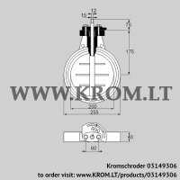 Butterfly valve DKR 200Z03F100A (03149306)