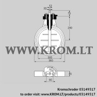 Butterfly valve DKR 300Z03F650A (03149317)