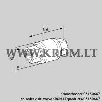 Non-return gas valve GRS 15R (03150667)