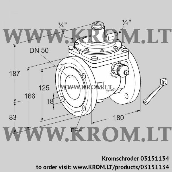 Kromschroder Safety shut-off valve JSAV 50F50/1-0, 03151134