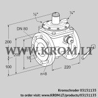 Safety shut-off valve JSAV 80F50/1-0 (03151135)