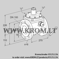 Safety shut-off valve JSAV 100F50/1-0 (03151136)