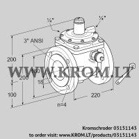 Safety shut-off valve JSAV 80TA50/1-0 (03151143)