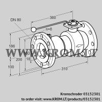 Manual valve AKT 80F50TAS (03152301)