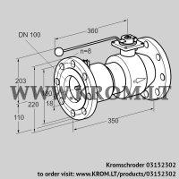 Manual valve AKT 100F50TAS (03152302)