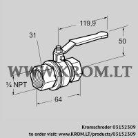 Manual valve AKT 20TN88 (03152309)