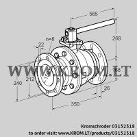 Manual valve AKT 150F160G1 (03152318)
