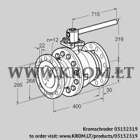 Manual valve AKT 200F160G1 (03152319)
