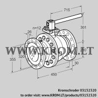 Manual valve AKT 250/200F160G1 (03152320)