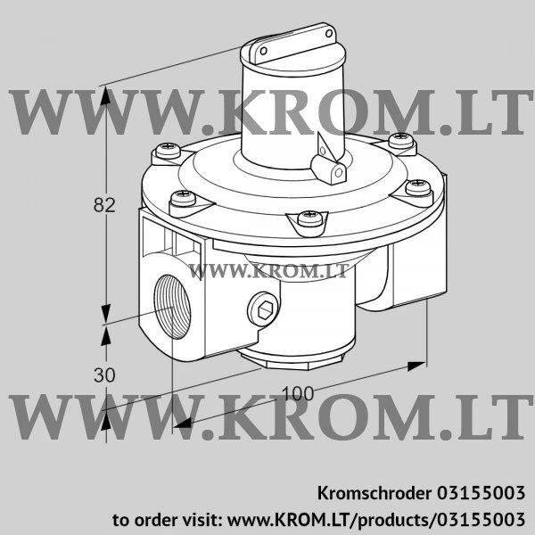 Kromschroder Pressure regulator J78R 1, 03155003