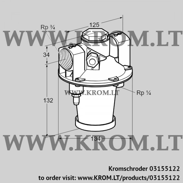 Kromschroder Air/gas ratio control GIK 20R02-5, 03155122