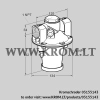 Air/gas ratio control GIK 25TN02-5L (03155143)