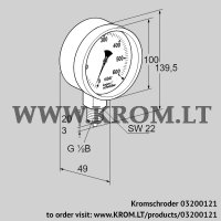 Pressure gauge RFM 4RB100 (03200121)