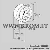 Pressure gauge RFM P23TNB100 (03200134)