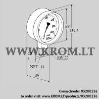 Pressure gauge RFM P150TNB100 (03200136)