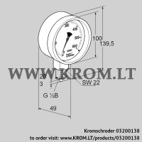 Pressure gauge KFM 25RB100 (03200138)