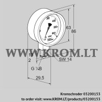 Pressure gauge RFM 16RB63 (03200153)