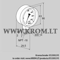 Pressure gauge RFM P230TNB63 (03200193)