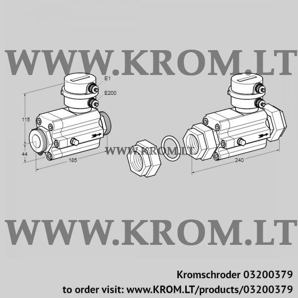 Kromschroder Flow meter DM 16R25-40, 03200379