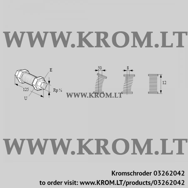 Kromschroder Stainless steel bellows unit EKO 15RI, 03262042