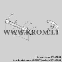 Stainless steel flexible tube ES 8RA800 (03263004)