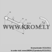 Stainless steel flexible tube ES 10RA500 (03263011)