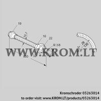 Stainless steel flexible tube ES 10RA800 (03263014)