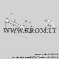 Stainless steel flexible tube ES 16RA800 (03263024)