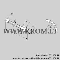 Stainless steel flexible tube ES 20RA800 (03263034)