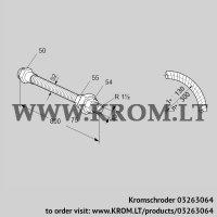 Stainless steel flexible tube ES 40RA800 (03263064)