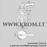 Butterfly valve DKR 200Z03H350D (72701130)