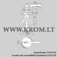 Butterfly valve DKR 200Z03H450D (72701330)