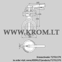 Butterfly valve DKR 400Z03H450D (72701370)