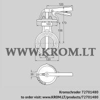Butterfly valve DKR 80Z03H650D (72701480)