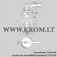 Butterfly valve DKR 500Z03H650D (72701590)