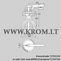 Butterfly valve DKR 300Z03H100D (72702150)