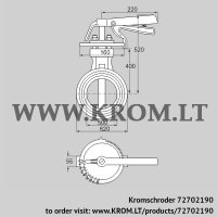 Butterfly valve DKR 500Z03H100D (72702190)