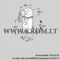 Pressure switch for gas DG 40VCT1-6W/B (74214174)
