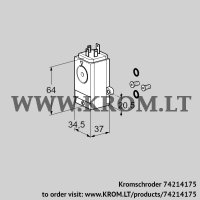 Pressure switch for gas DG 40VC1-5W /B (74214175)