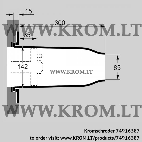 Kromschroder Ceramic tube set TSC 140B085-300/35-Si-1500, 74916387