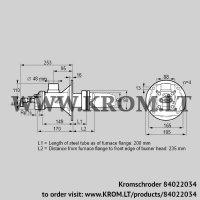 Burner for gas BICA 65RG-200/235-(39)D (84022034)