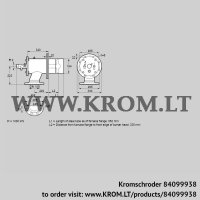 Burner for gas ZIO 200RB-550/335-(20)DB (84099938)