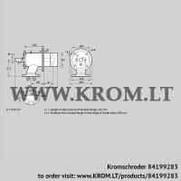 Burner for gas ZIO 165RB-300/285-(17)D (84199283)