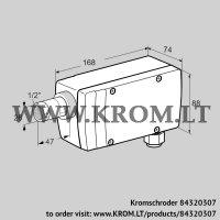 UV flame sensor UVC 1D2G1A (84320307)
