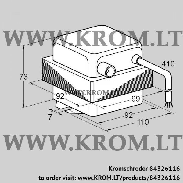 Kromschroder Ignition transformer TZI 7,5-20/33W, 84326116