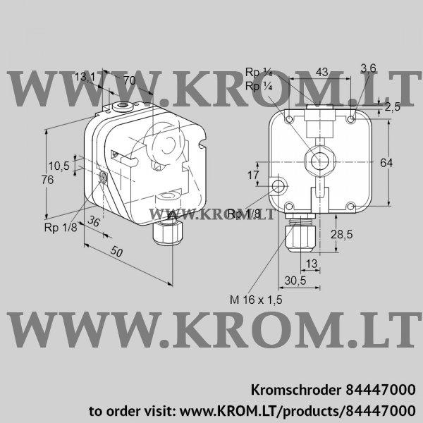 Kromschroder Pressure switch for gas DG 6UG-4, 84447000