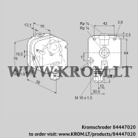 Pressure switch for gas DG 50UG-4 (84447020)