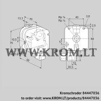 Pressure switch for gas DG 150U-9T (84447036)